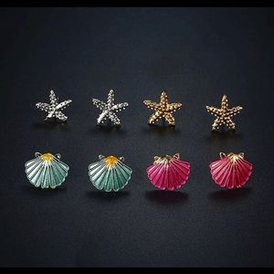 💥3 for 23💥Starfish & Shell Studs Set of 4